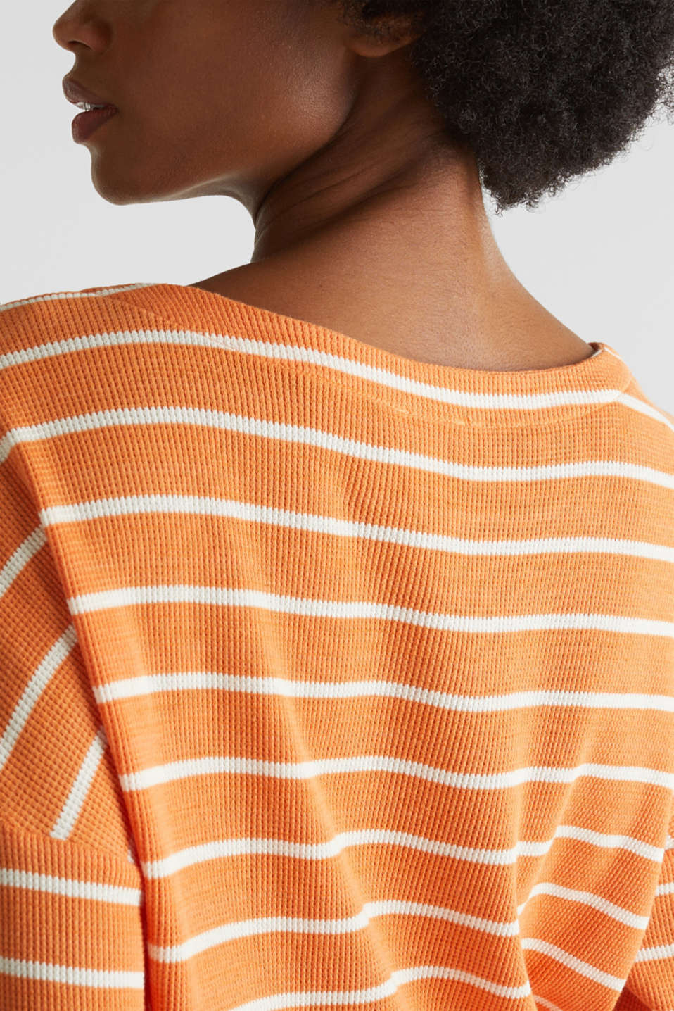 Piqué T-shirt in 100% cotton, RUST ORANGE, detail image number 6