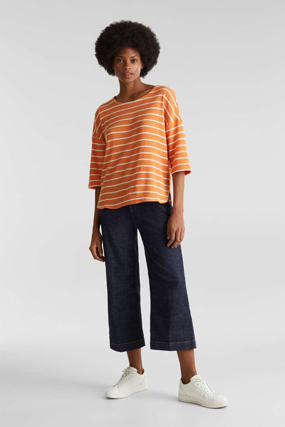 Piqué T-shirt in 100% cotton, RUST ORANGE, detail image number 1