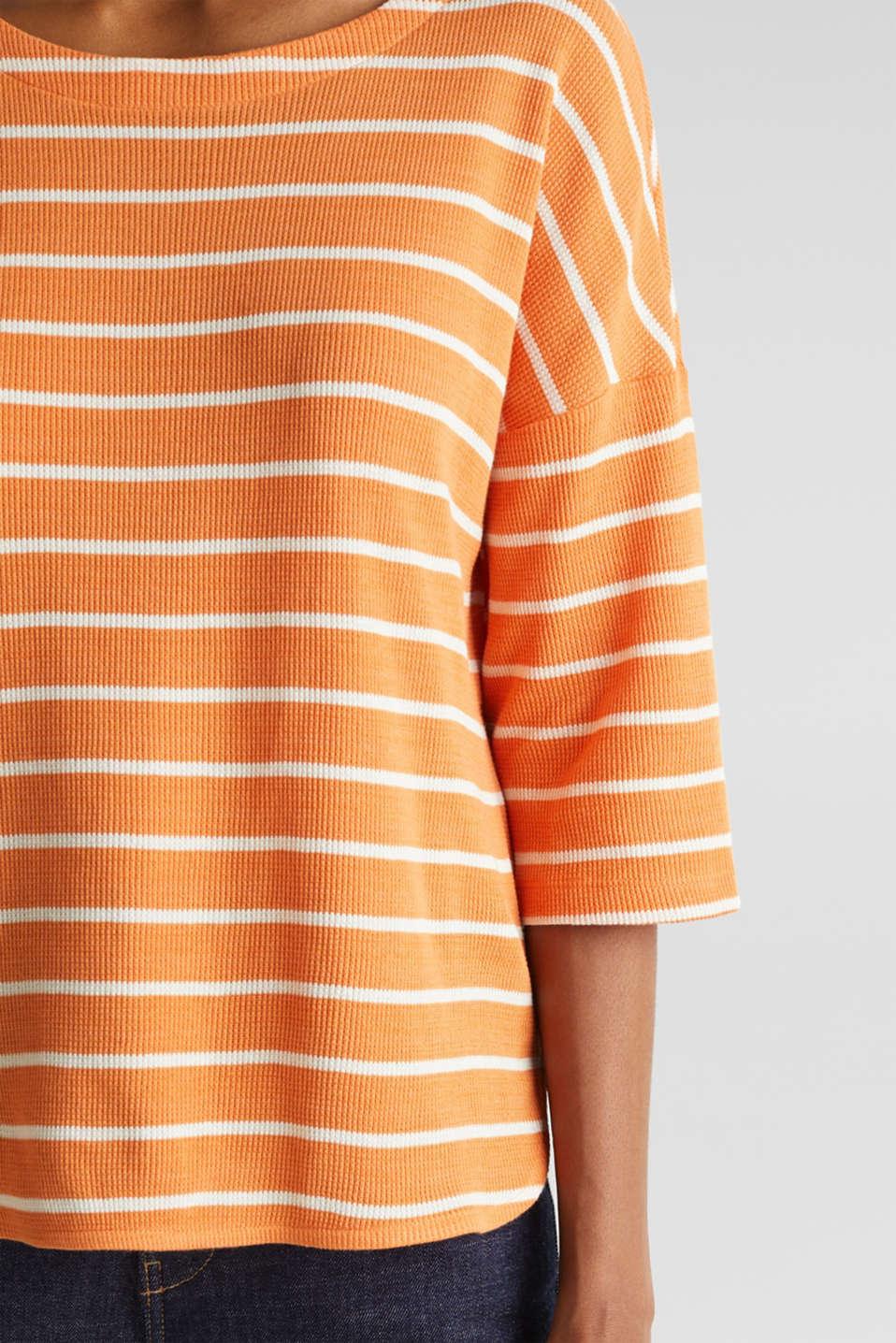 Piqué T-shirt in 100% cotton, RUST ORANGE, detail image number 2