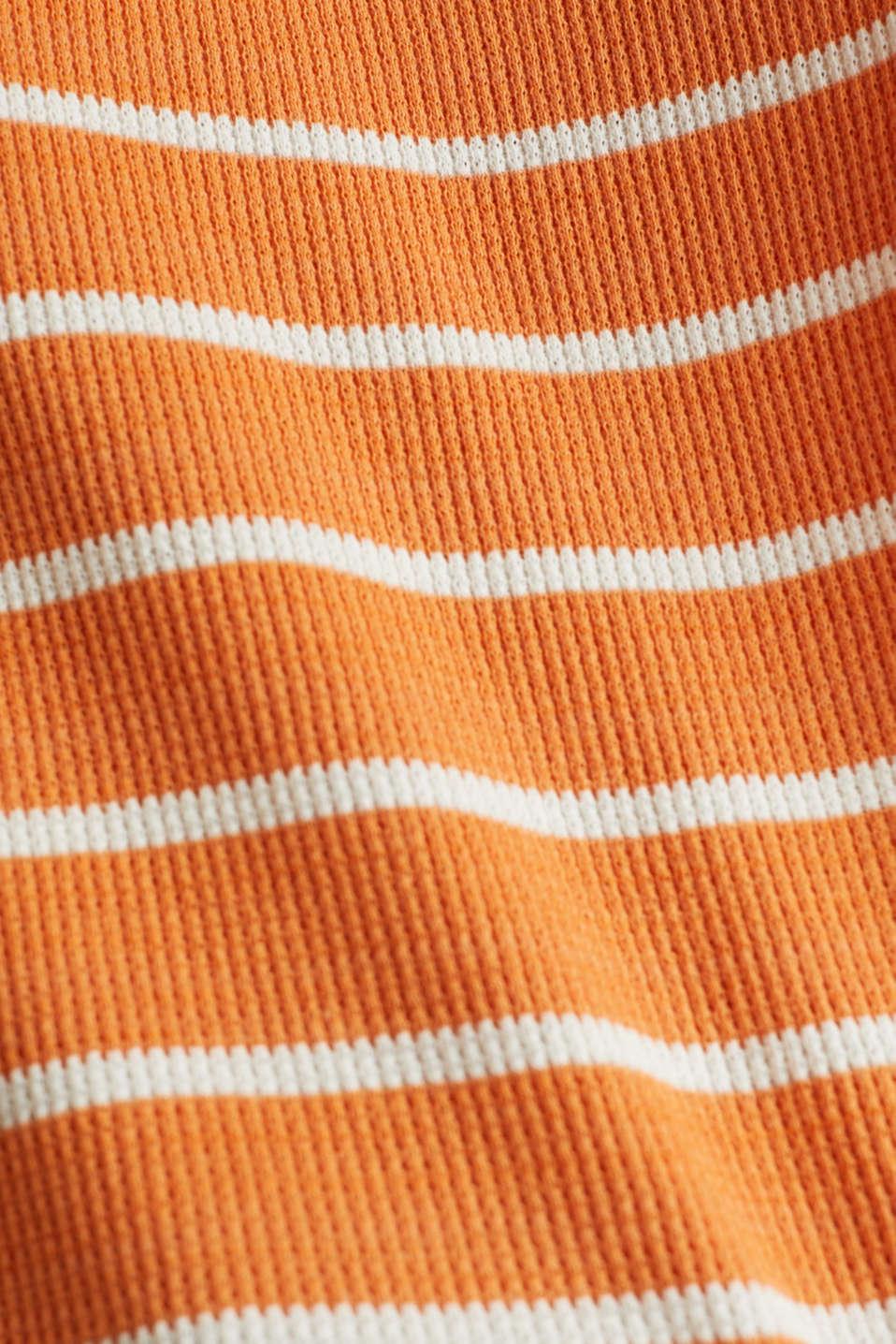 Piqué T-shirt in 100% cotton, RUST ORANGE, detail image number 4