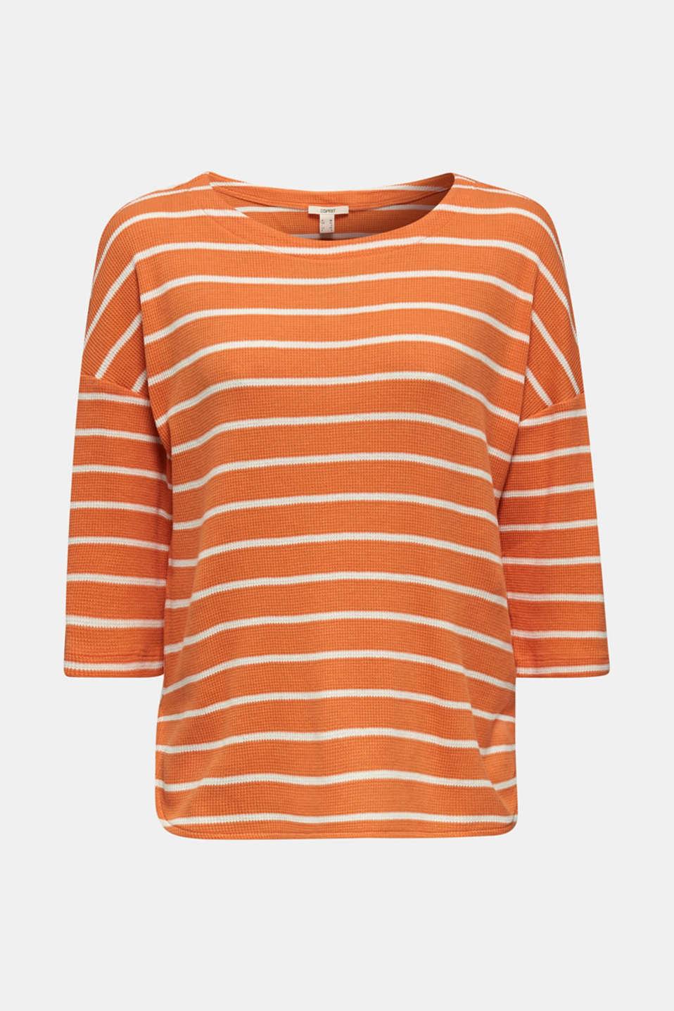 Piqué T-shirt in 100% cotton, RUST ORANGE, detail image number 8