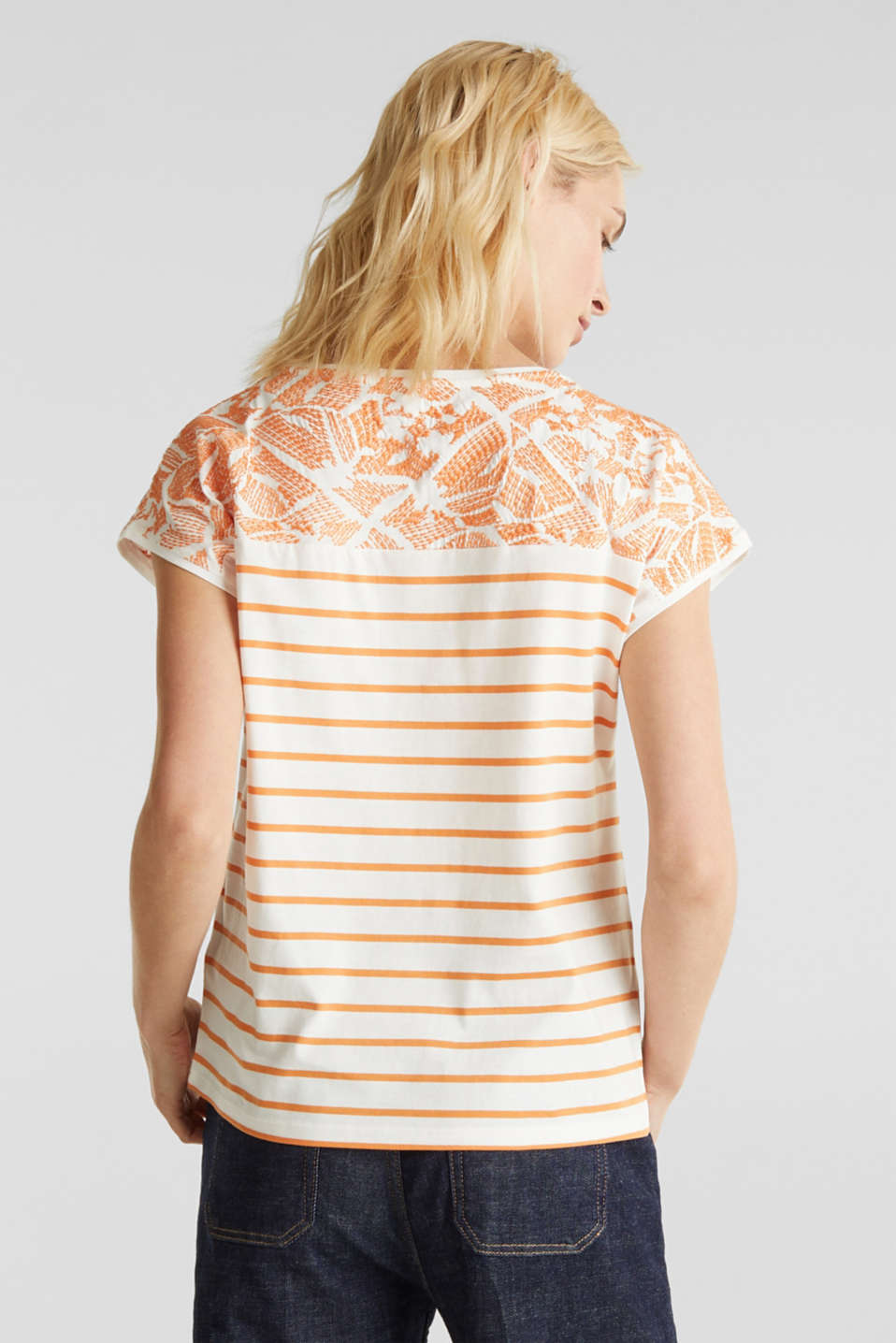Embroidered top, organic cotton, RUST ORANGE, detail image number 3