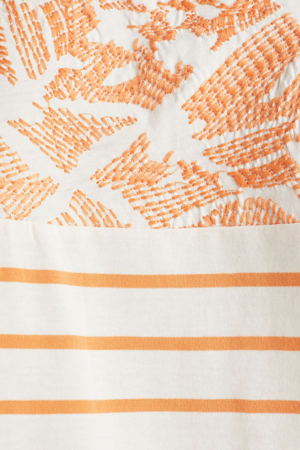 Embroidered top, organic cotton, RUST ORANGE, detail image number 4