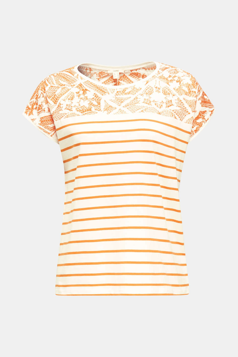 Embroidered top, organic cotton, RUST ORANGE, detail image number 5