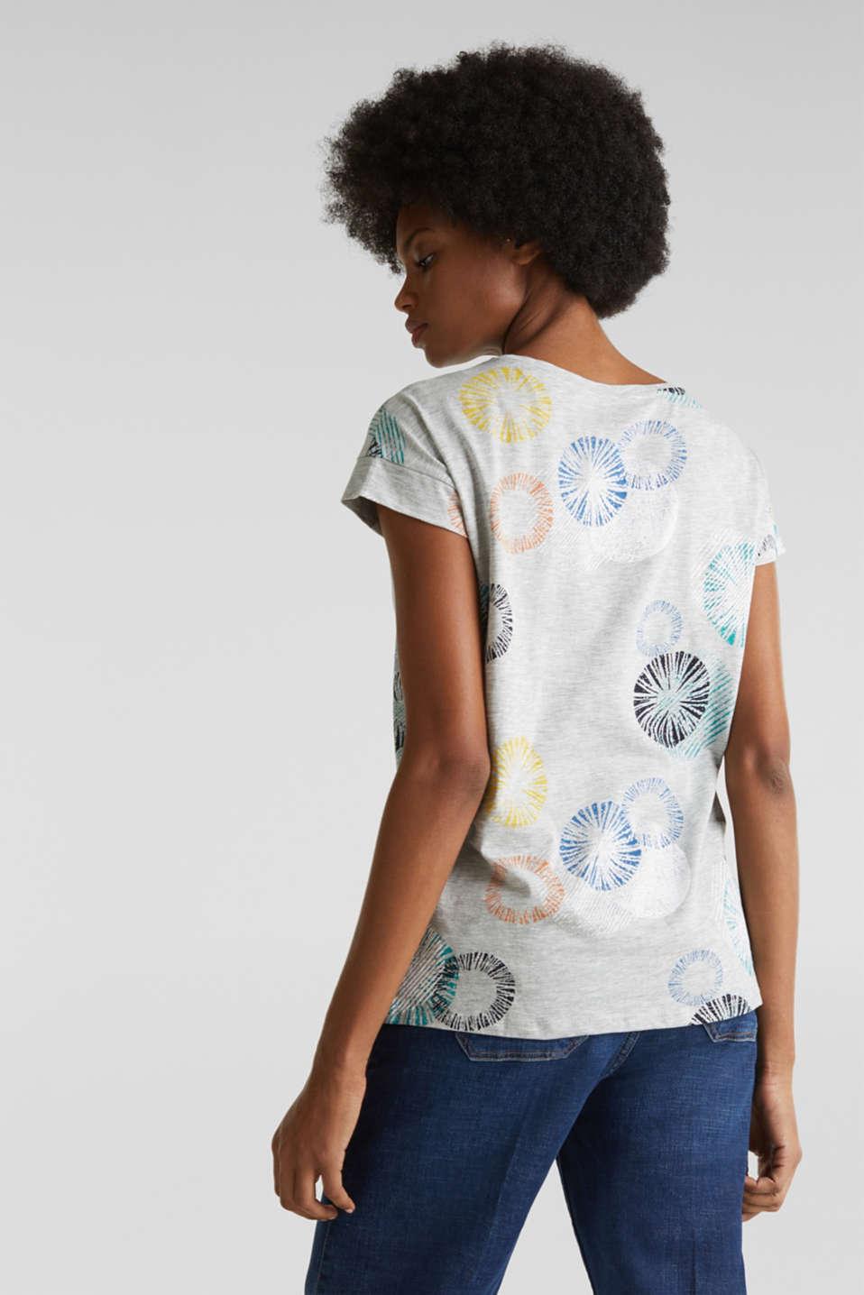 Printed melange slub T-shirt, LIGHT GREY 5, detail image number 2