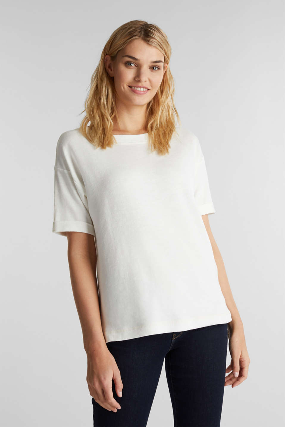 Esprit - Textured top in blended cotton