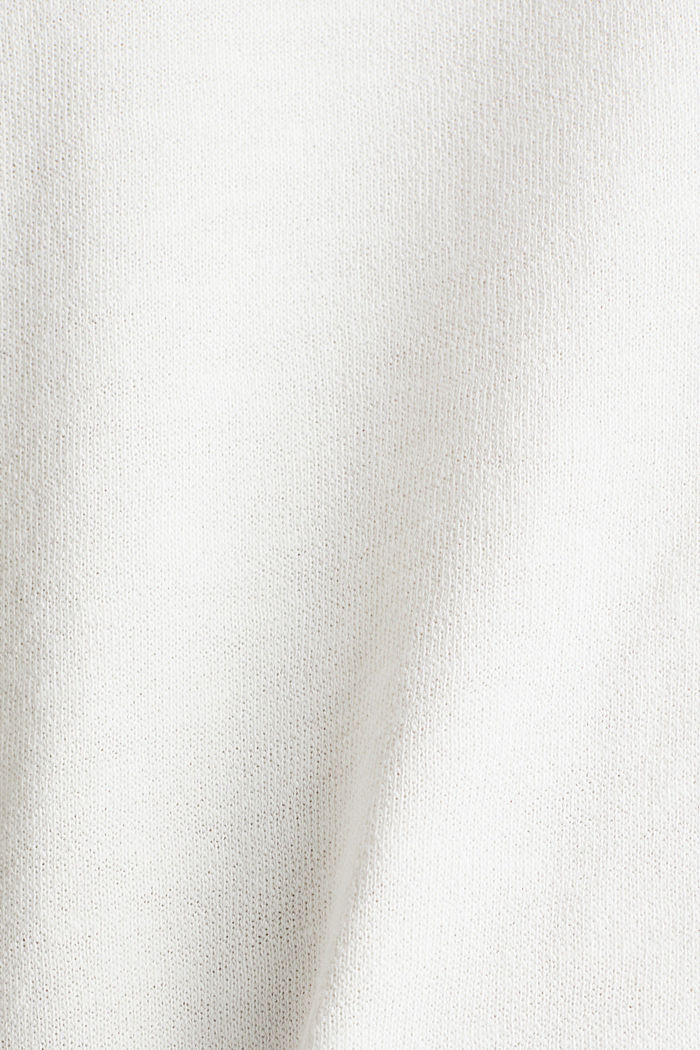 Textured top in blended cotton, OFF WHITE, detail image number 3