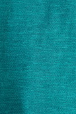 Textured top in blended cotton, TEAL GREEN, detail