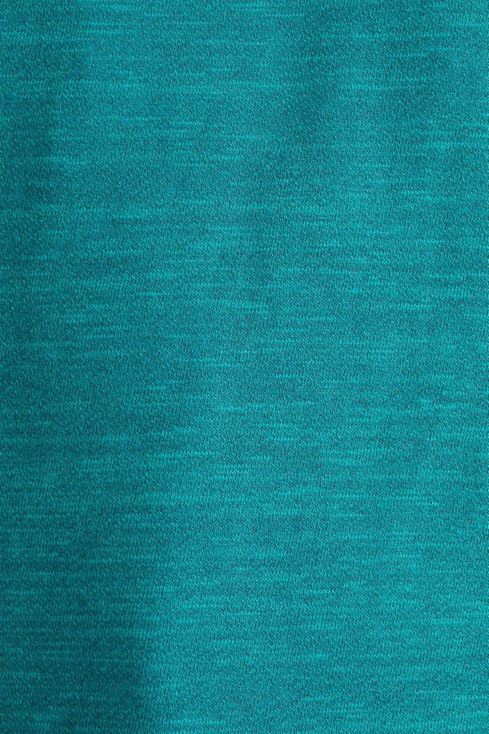 Textured top in blended cotton, TEAL GREEN, detail image number 3