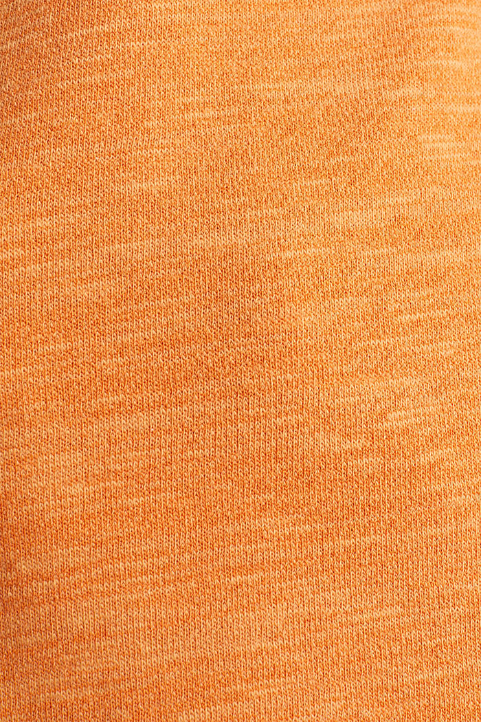 Textured top in blended cotton, RUST ORANGE, detail image number 4