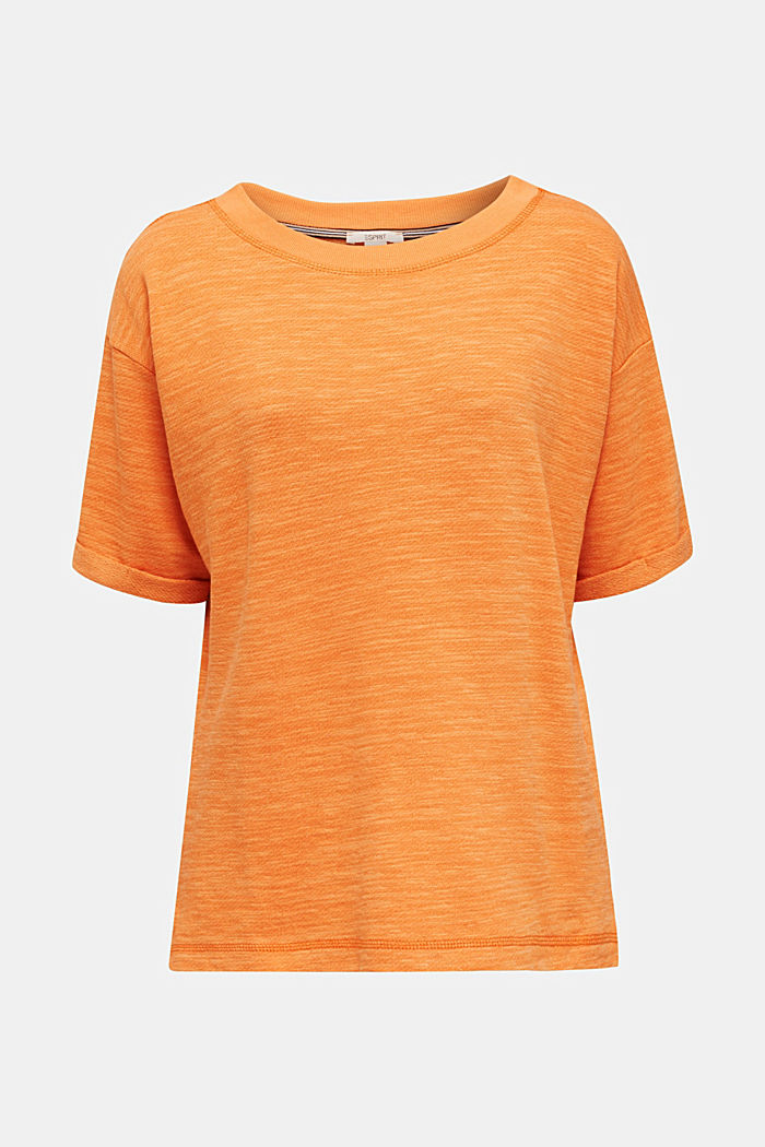 Textured top in blended cotton, RUST ORANGE, detail image number 6
