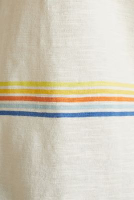 Striped top made of organic cotton, OFF WHITE, detail