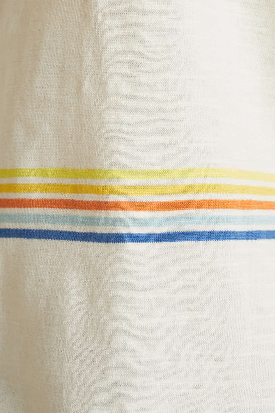 Striped top made of organic cotton, OFF WHITE, detail image number 4