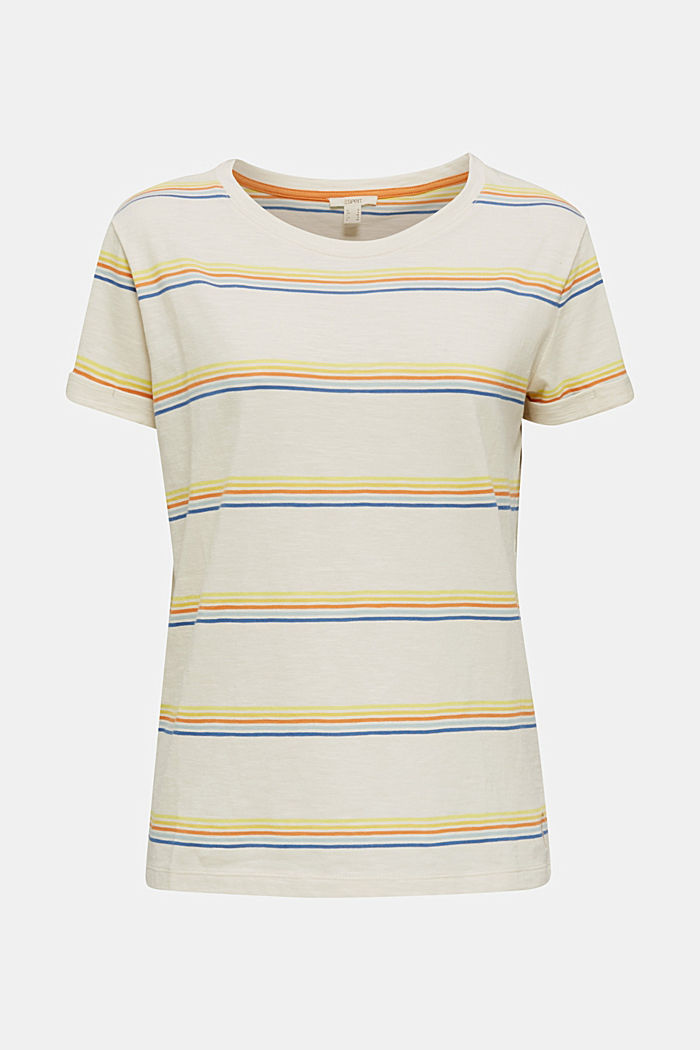 Striped top made of organic cotton, OFF WHITE, detail image number 5