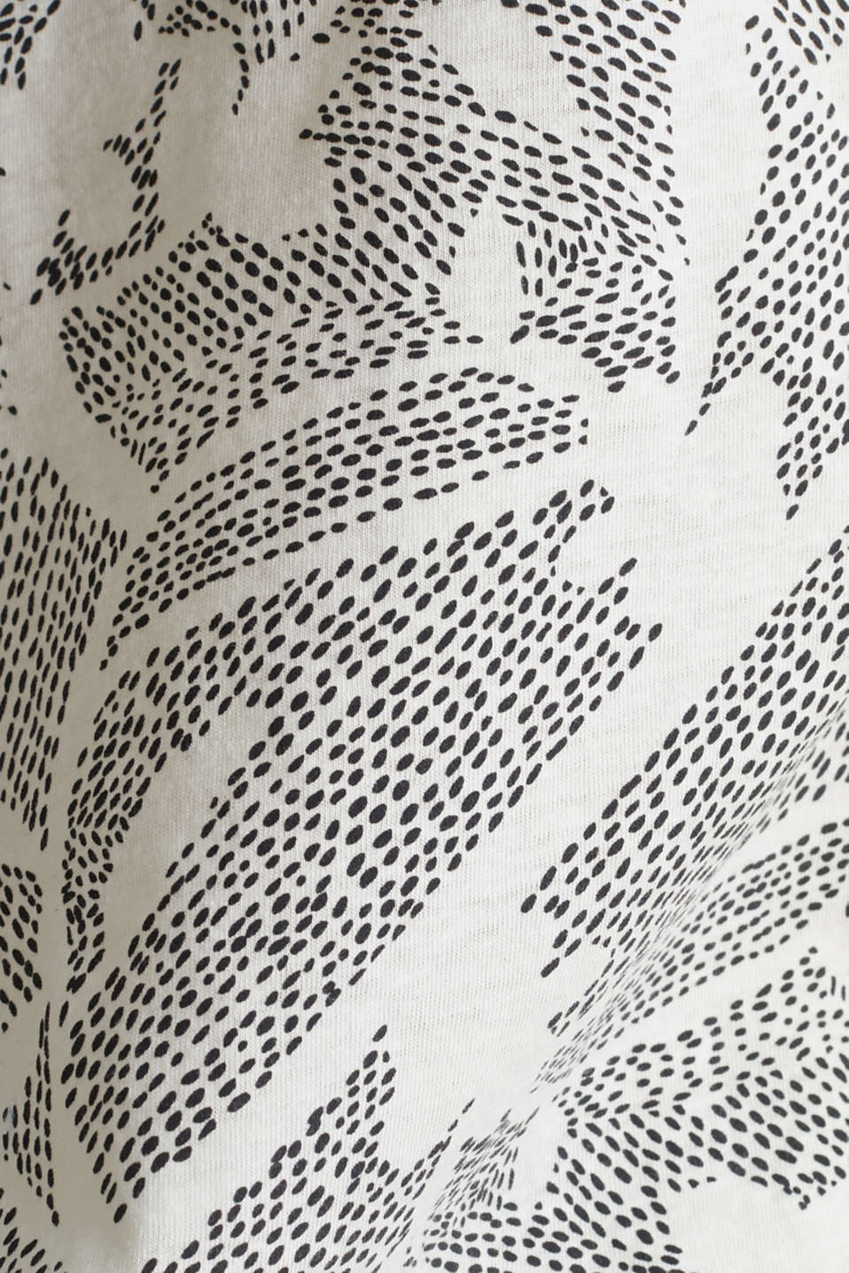 Blended linen: Print T-Shirt with an elasticated hem, OFF WHITE, detail image number 4