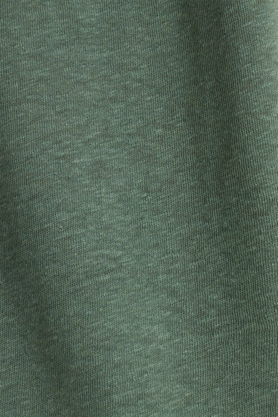 Made of blended linen: clean-look top, KHAKI GREEN, detail image number 4