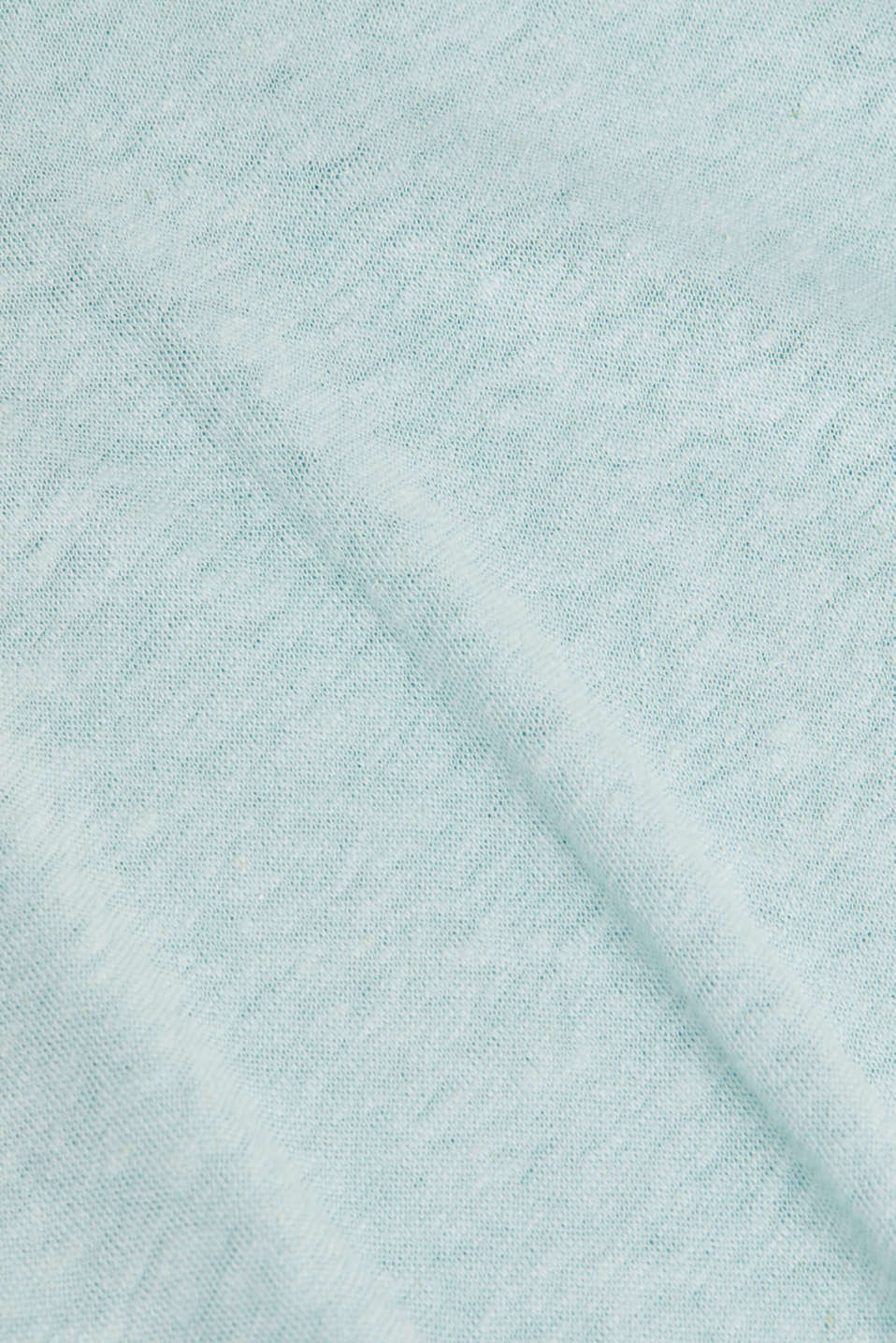 Made of blended linen: clean-look top, LIGHT AQUA GREEN, detail image number 4