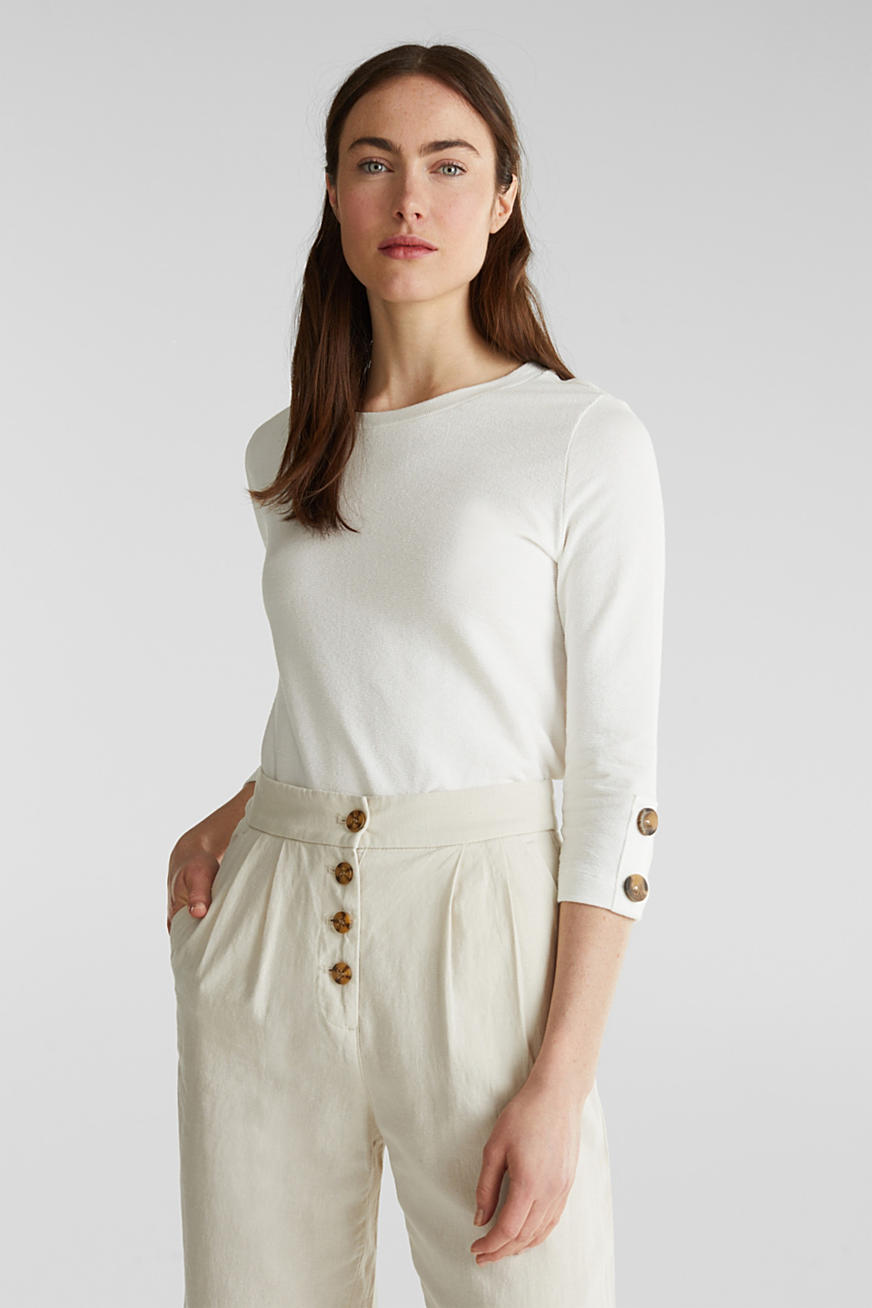 Top with buttons, 100% cotton