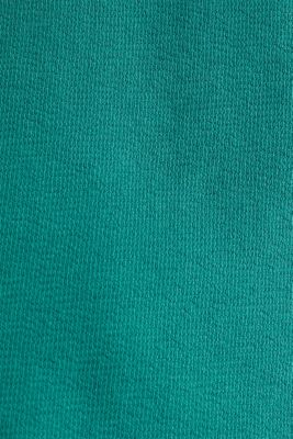 Top with buttons, 100% cotton, TEAL GREEN, detail