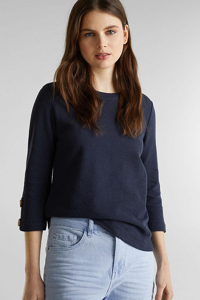 Shirt mit Knöpfen, 100% Baumwolle, NAVY, detail image number 0