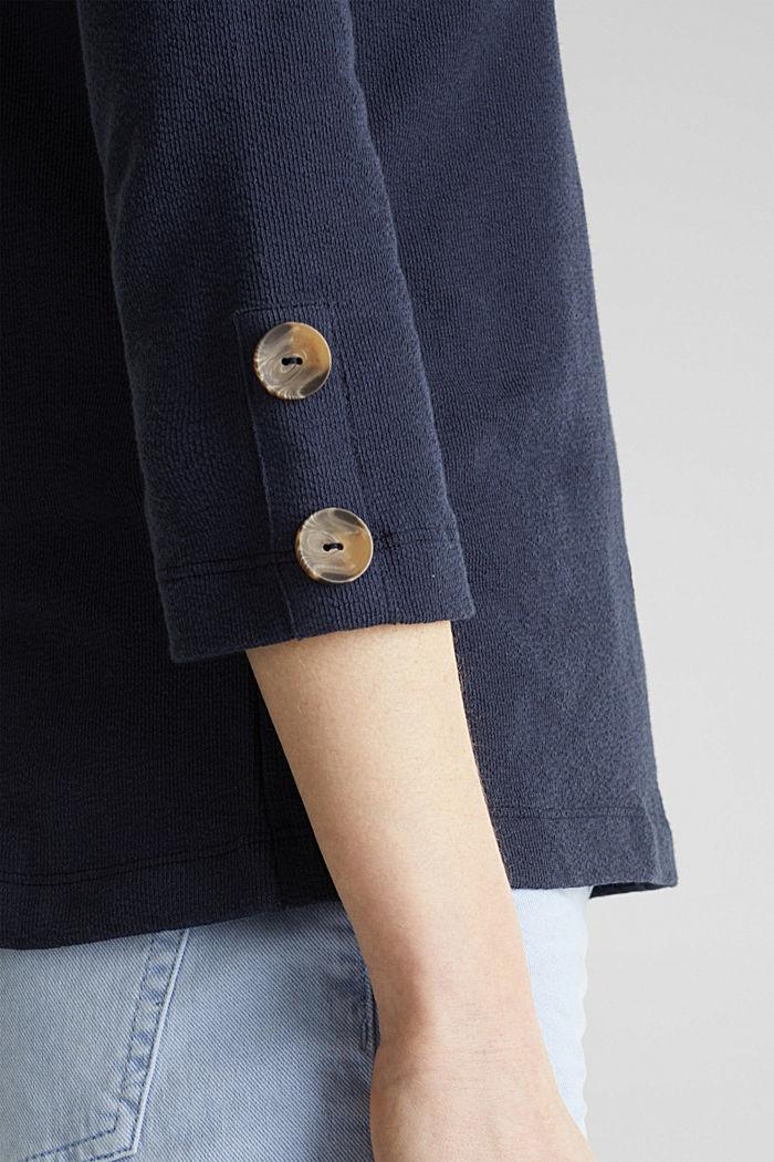 Shirt mit Knöpfen, 100% Baumwolle, NAVY, detail image number 2