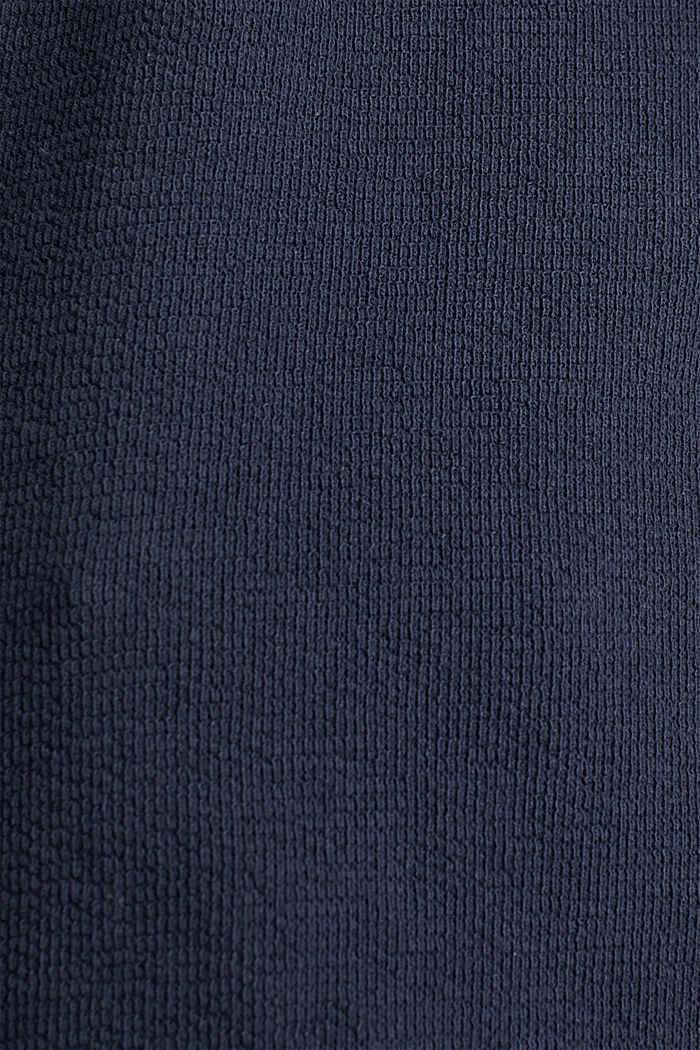 Shirt mit Knöpfen, 100% Baumwolle, NAVY, detail image number 4