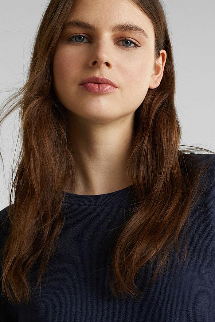 Shirt mit Knöpfen, 100% Baumwolle, NAVY, detail image number 5
