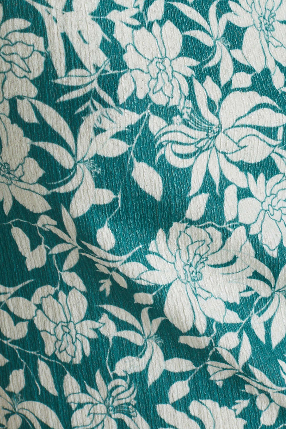 Blouse top with frills, recycles, TEAL GREEN 2, detail image number 4
