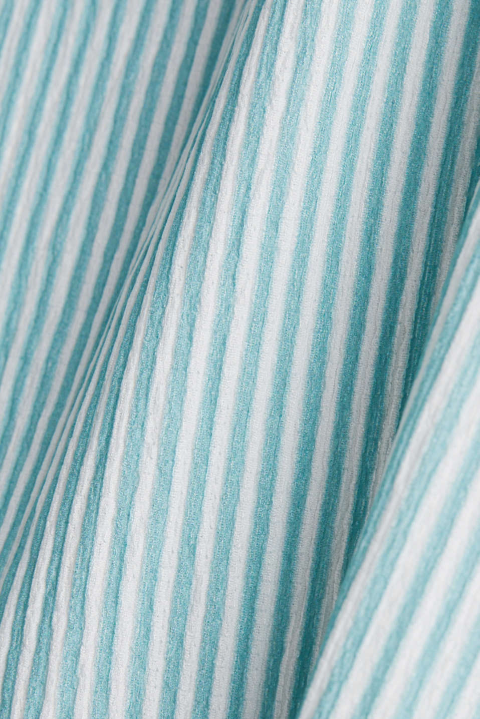 Striped blouse top, recycled, LIGHT AQUA GREEN, detail image number 4