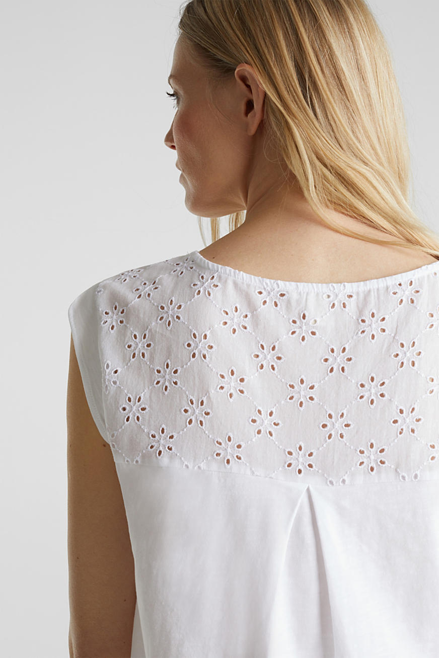 Broderie anglaise top, 100% cotton