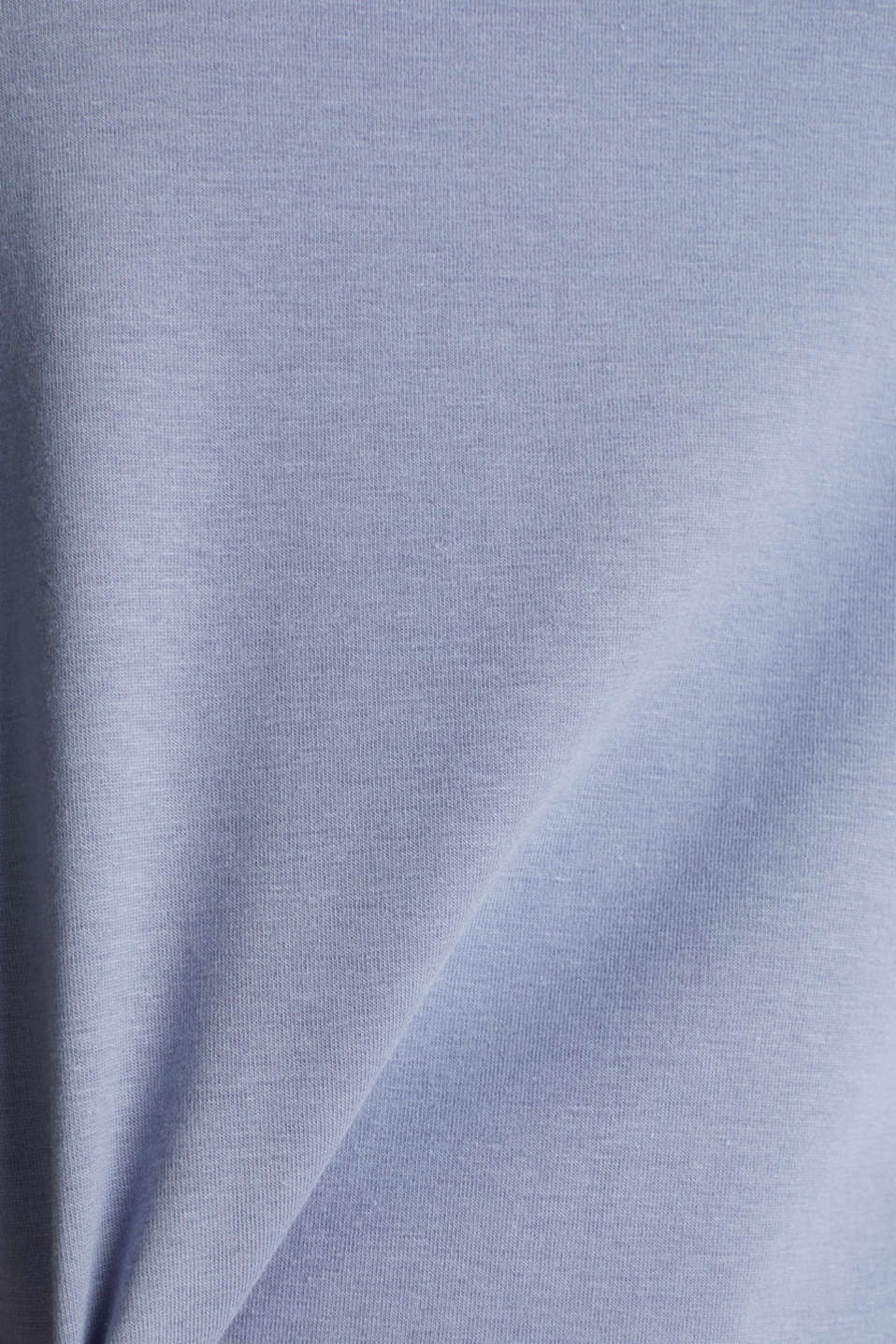 Top with lace shoulders, GREY BLUE, detail image number 4