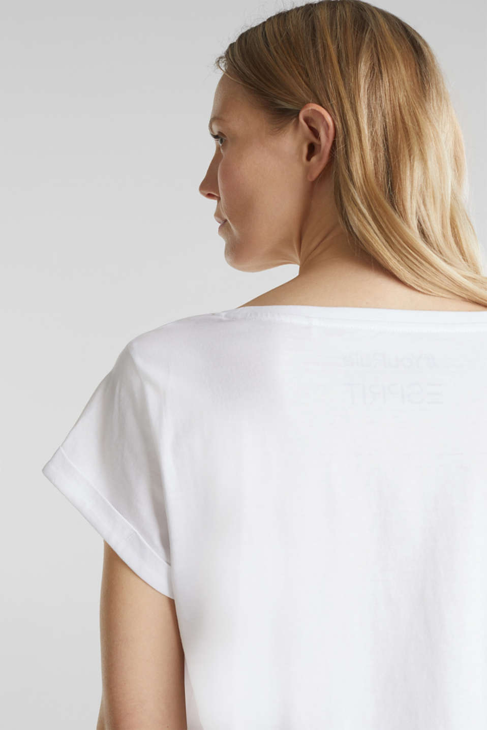 T-shirt with statement print, 100% organic cotton, WHITE, detail image number 2