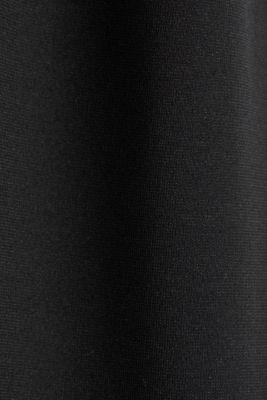 Stretch jersey jumpsuit with belt, BLACK, detail