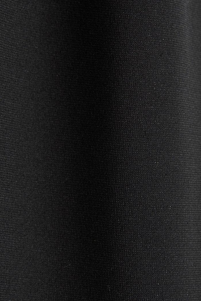Jersey jumpsuit met stretch en ceintuur, BLACK, detail image number 4