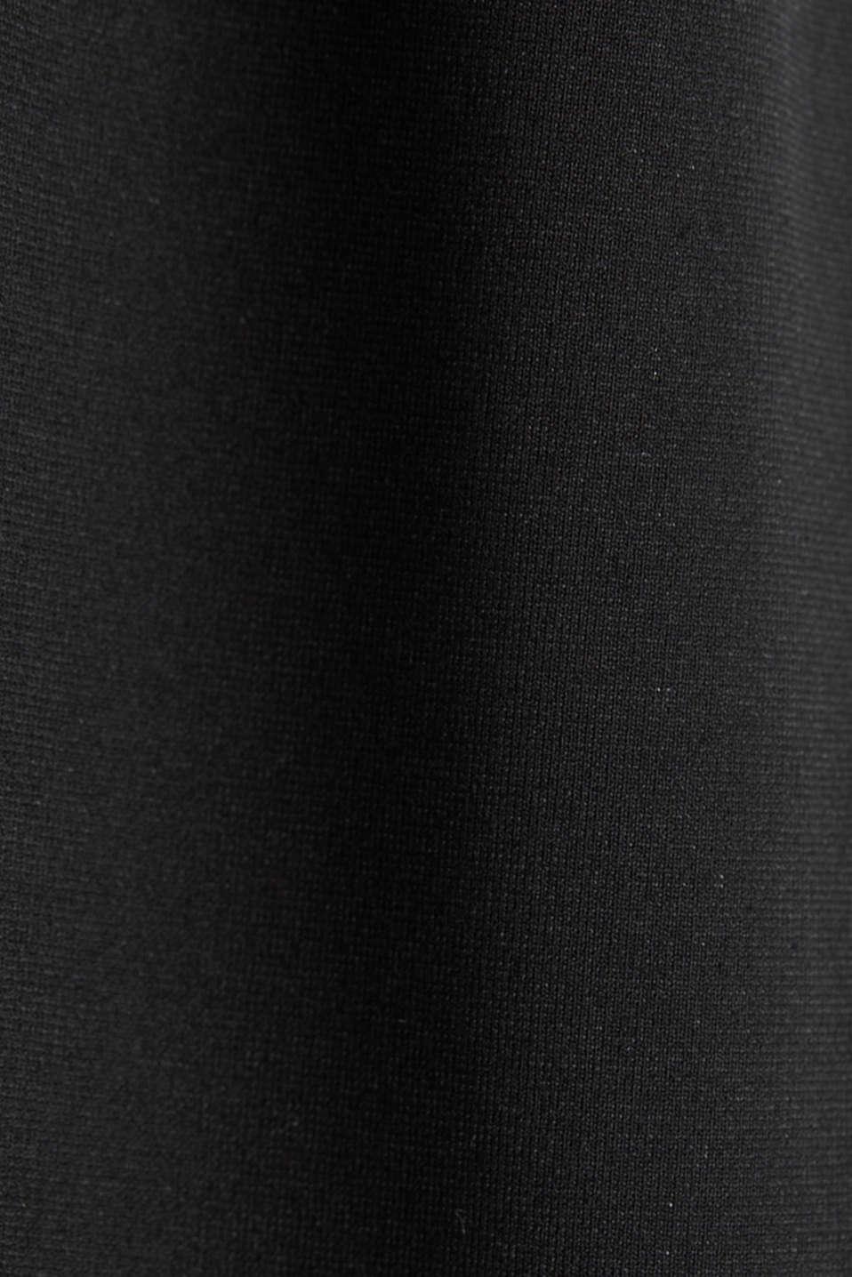 Stretch jersey jumpsuit with belt, BLACK, detail image number 4