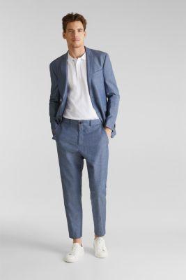 Blended linen: JOGG SUIT mix + match: trousers, BLUE 5, detail
