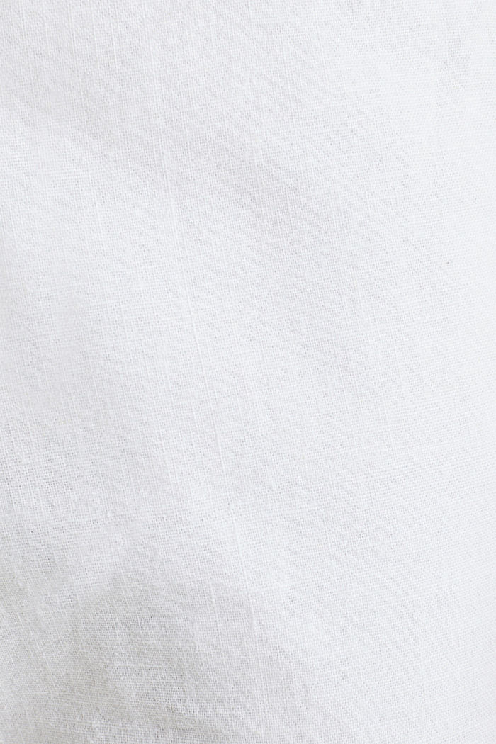Linen blend: trousers with belt, WHITE, detail image number 4
