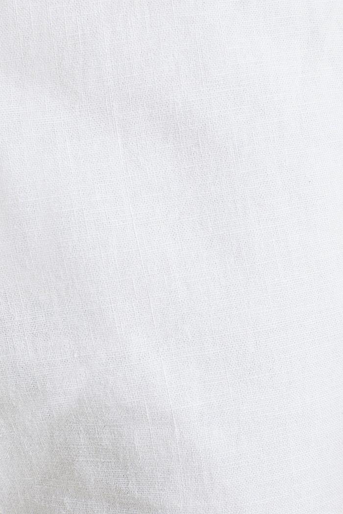 Leinen-Mix: Hose mit Gürtel, WHITE, detail image number 4