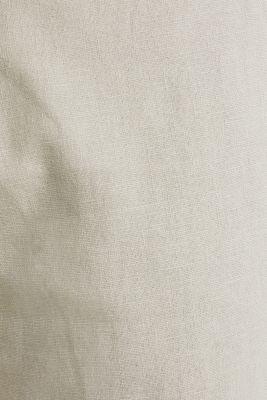 Linen blend: trousers with belt, LIGHT BEIGE, detail