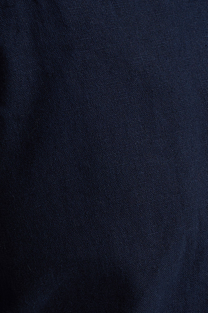 Linen blend: trousers with belt, NAVY, detail image number 3