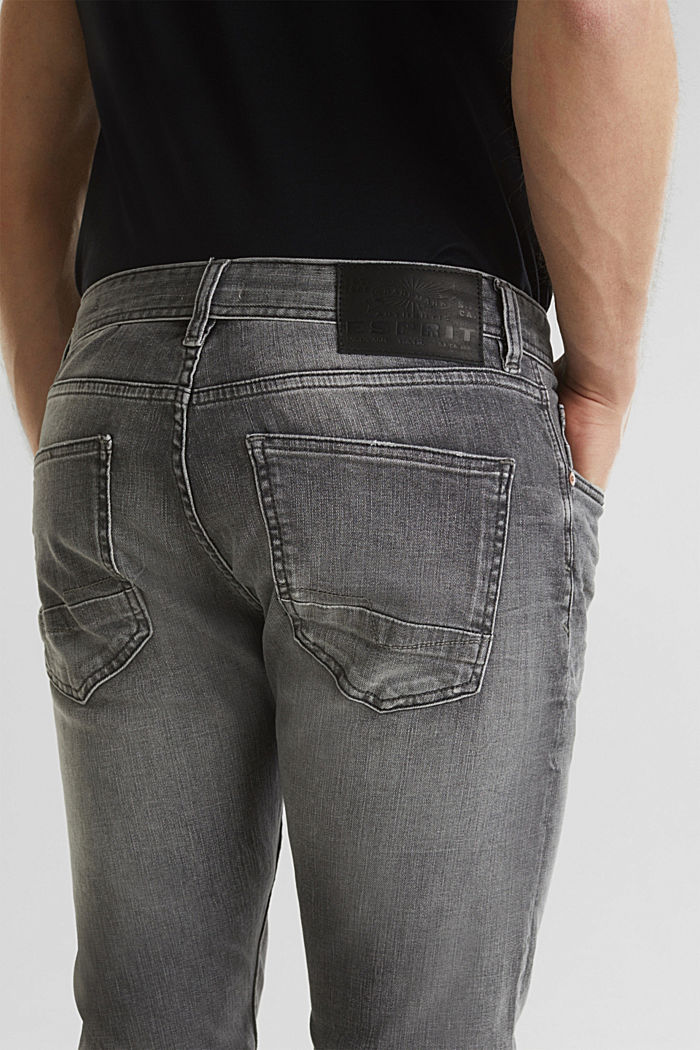 Premium jeans with whiskering, GREY LIGHT WASHED, detail image number 6