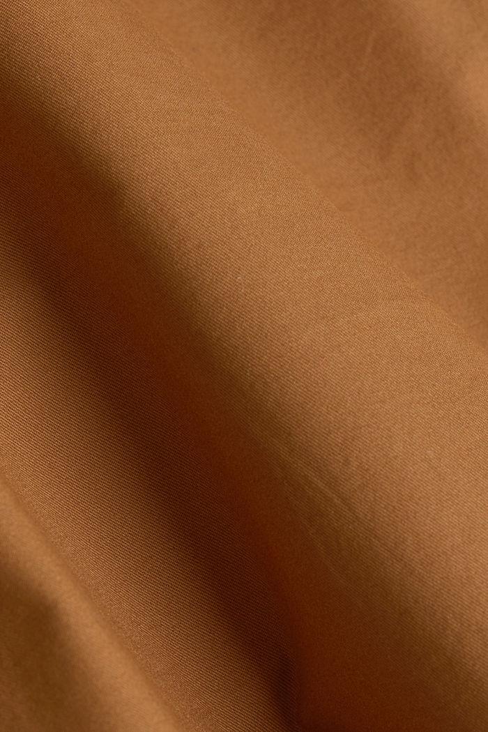 Shorts in cotone elasticizzato con cintura, CAMEL, detail image number 4
