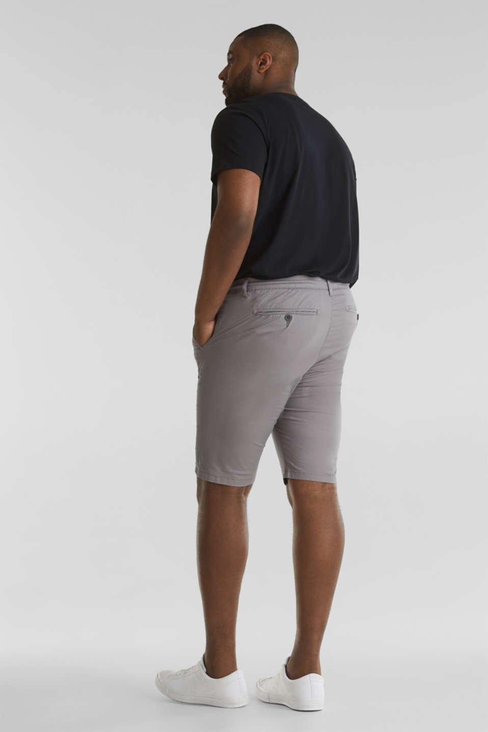 Chino shorts with organic cotton, GREY, detail image number 3