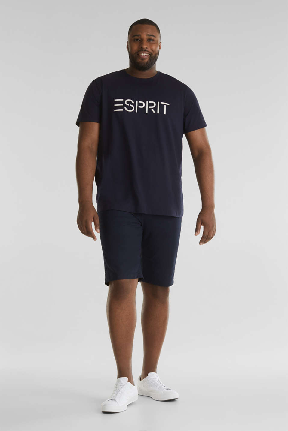 Chino shorts with organic cotton, NAVY, detail image number 0