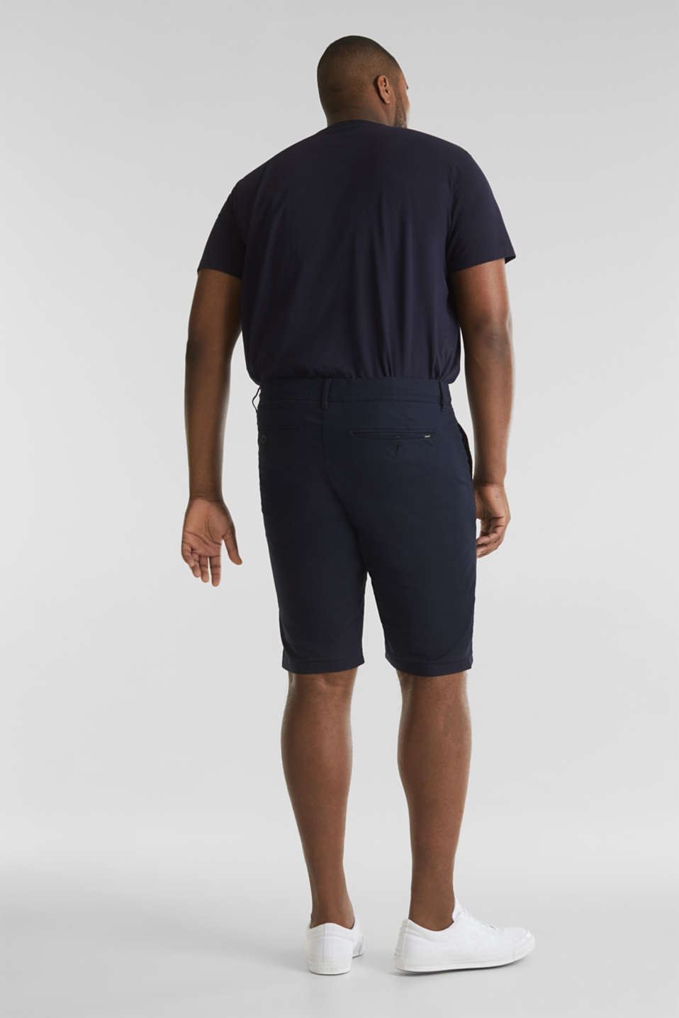 Chino shorts with organic cotton, NAVY, detail image number 2