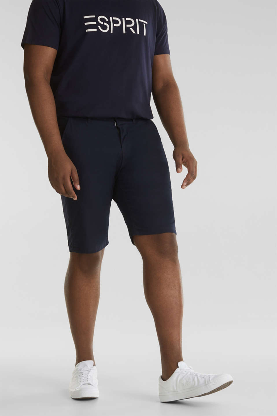 Chino shorts with organic cotton, NAVY, detail image number 4