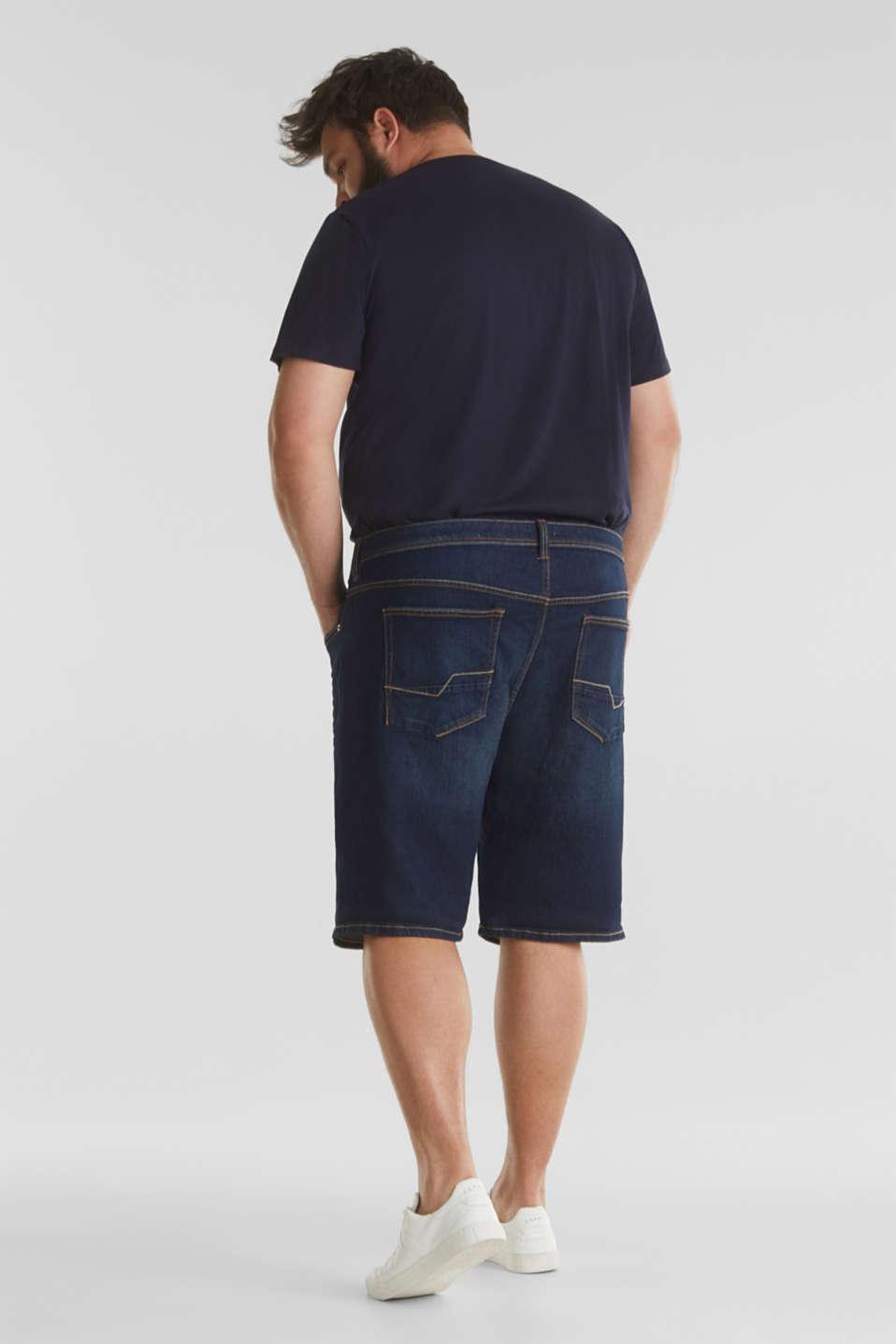 Denim Bermudas in a garment-washed look, BLUE DARK WASH, detail image number 3