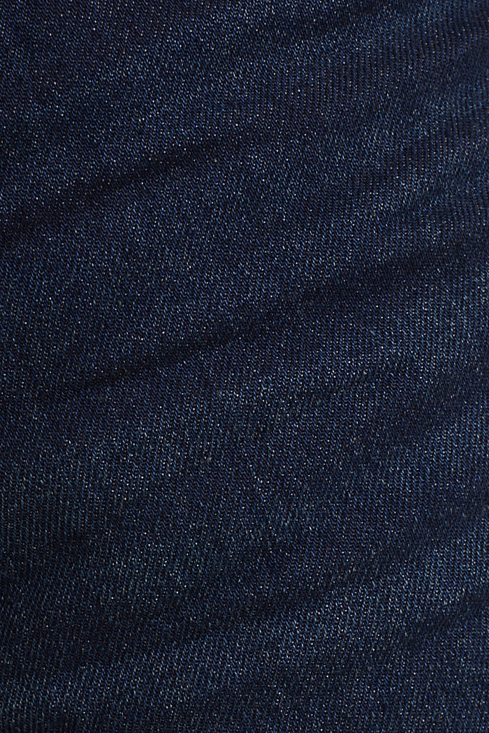 Bermuda in denim dal look lavato, BLUE DARK WASHED, detail image number 4