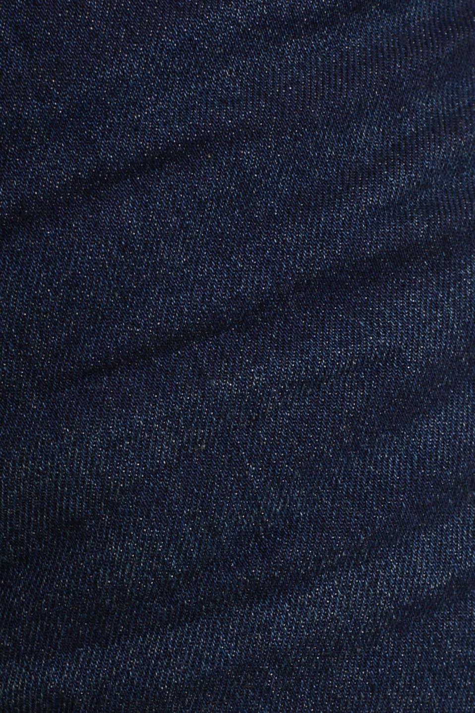 Denim Bermudas in a garment-washed look, BLUE DARK WASH, detail image number 4