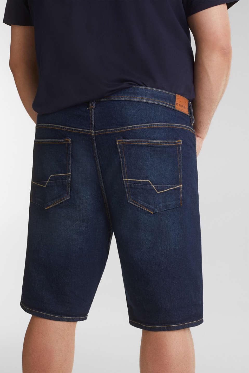 Denim Bermudas in a garment-washed look, BLUE DARK WASH, detail image number 5